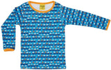 PRICE DROP * Duns Sweden LS tee - Sailing Boats - Blue