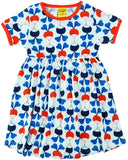 Duns Sweden SS Dress with Gathered Skirt - Big Radishes - Blue