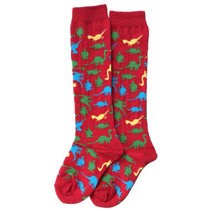 S & S Adult Knee Socks - Dino