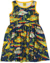 Duns Sweden Sleeveless Dress with Gathered Skirt - Seaweed - Navy
