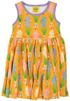 Duns Sweden Sleeveless Dress with Gathered Skirt - Hyacinths - Yellow