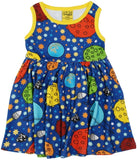 Duns Sweden Sleeveless Dress with Gathered Skirt - Space - Navy