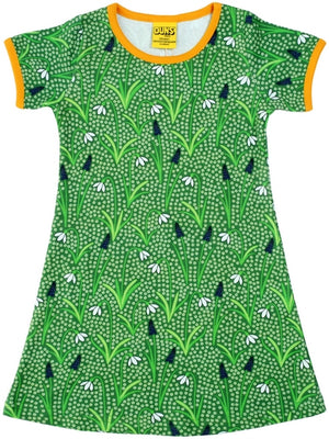 Duns Sweden SS dress - Green Snowdrops **LAST ONE sz104
