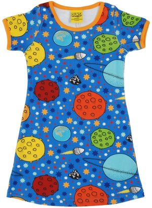 Duns Sweden SS dress - Space - Blue
