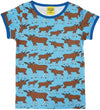 Duns Sweden SS tee - Moose - Blue **LAST ONE sz 86