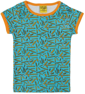 Duns Sweden SS Tee - Pencil - Turquoise