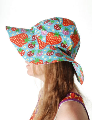 PRICE DROP * Duns Sweden - Sunhat - Strawberry Field - Turquoise