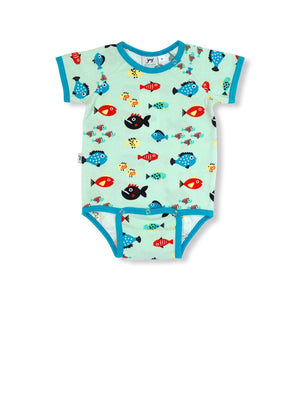PRICE DROP * JNY - S/S Body Suit - Swimming Fish