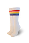 Pride Socks 22in white tubes - Fearless