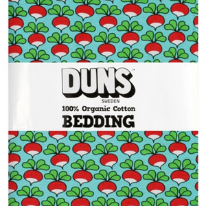 Duns - Bedding - NZ Single Duvet Set - Radishes - Light Blue