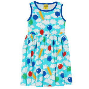 Duns Sweden Sleeveless Dress with Gathered Skirt - A Cloudy Day