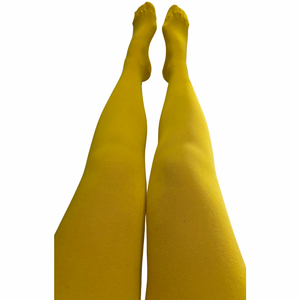 S & S Adult Tights - Block Colour - Sunflower Yellow