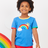 Toby Tiger - SS Tee - Rainbow Sun Cloud Applique