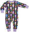 Duns Sweden Zip Suit - Hyacinths - Purple