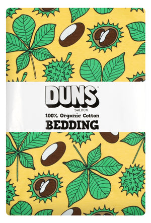 Duns - Bedding - NZ Single Duvet Set - Chestnut - Daffodil Yellow