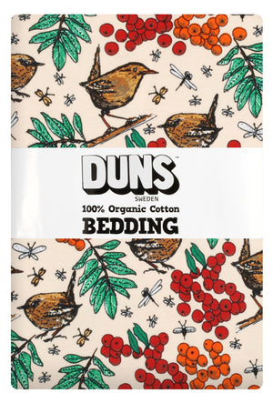 Duns - Bedding - NZ Single Duvet Set - Rowanberry - Mother of Pearl