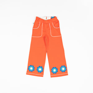 Alba - Caroline Flower Pants - Orange.com