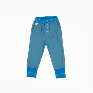Alba - Hai Button Pants - Blue Steel