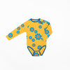 Alba - Kenya Bodysuit - Bright Gold Flower Power Love