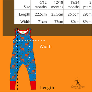 Coddi & Womple - Dungarees - Cedar in the Berry Bush ** LAST ONE sz 18-24m