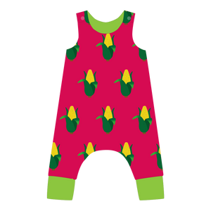 pikolo - Lined Dungarees - Sweetcorn