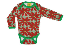 Duns Sweden LS body suit - Poinsettia - Dark Green