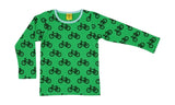 More Than A Fling - LS Tee - Bike - Green