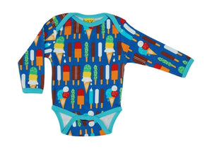 Duns Sweden LS body suit - Ice creams - Blue