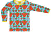 Duns Sweden LS tee - Strawberry Field - Turquoise