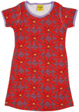 Duns Sweden SS dress - Poinsettia - Wine