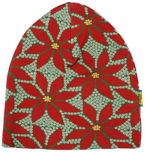 Duns Sweden - Double Layer Hat - Poinsettia - Dark Green