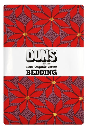 Duns - Bedding - NZ Single Duvet Set - Poinsettia Wine