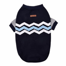 Load image into Gallery viewer, Dog Jumper - Blue and White Chevron print