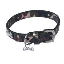 Load image into Gallery viewer, Collar - Camo with rhinestone bones