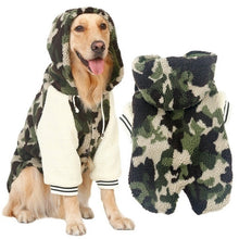 Load image into Gallery viewer, Dog Jacket/Jumper Camo fleece hoodie