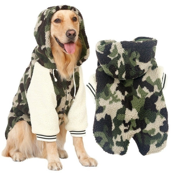 Dog Jacket/Jumper Camo fleece hoodie