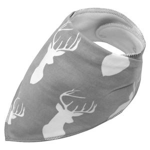Dog bandana - Grey with white deers