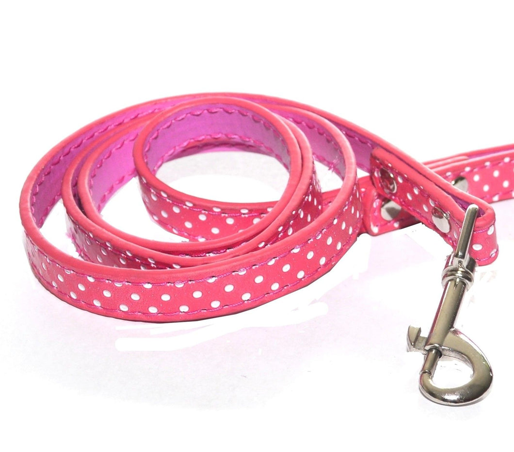 Lead/Leash - Pink Polka dot