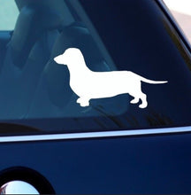 Load image into Gallery viewer, Dachshund sticker - silver or black