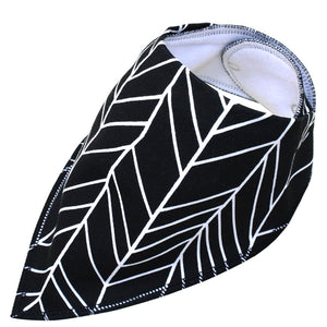 Dog bandana - Black and white geometric pattern