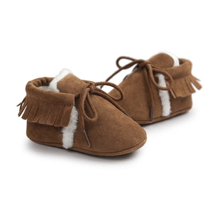 Wooly Baby Moccasins