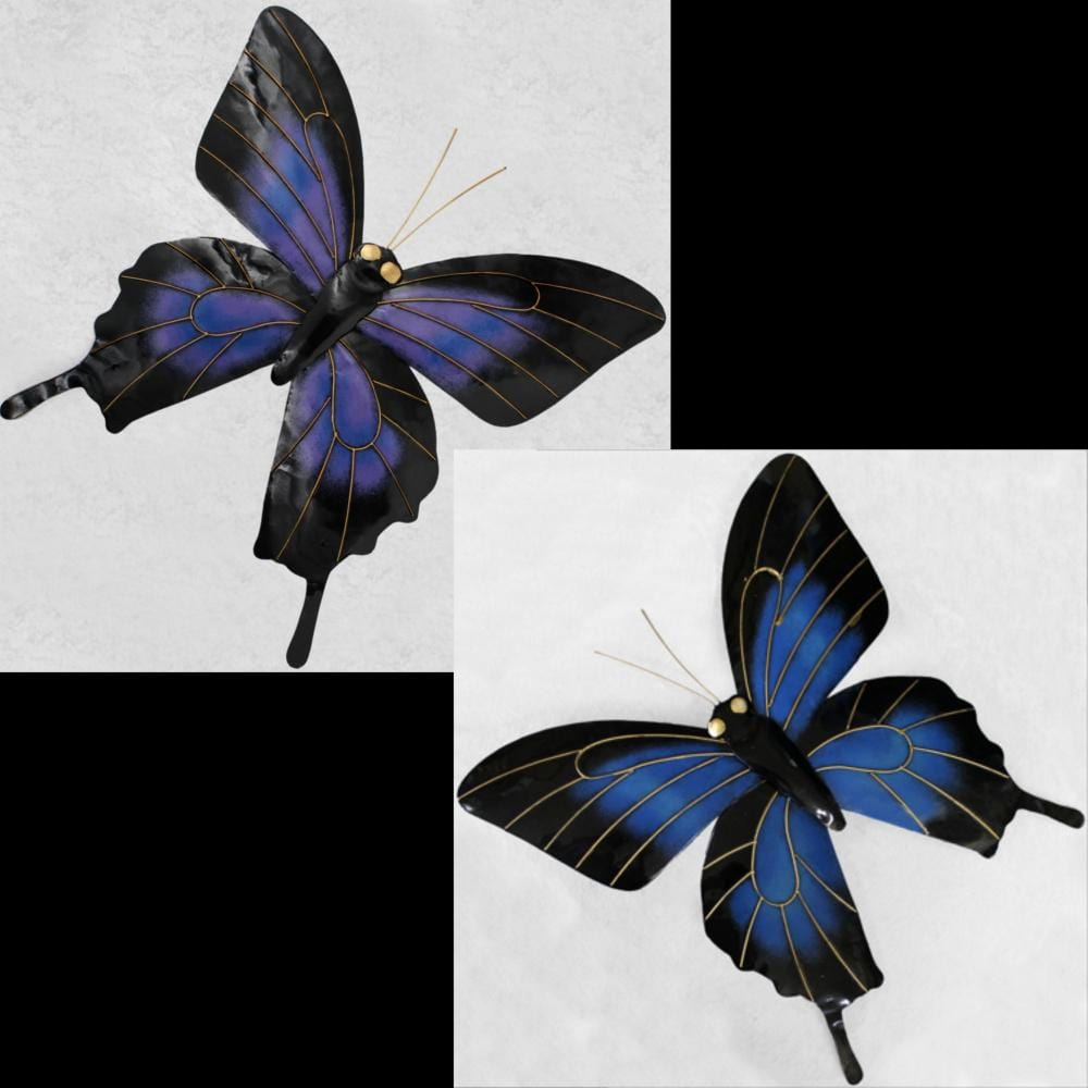Metal Butterfly Wall Sculptures-Handicrafts-Peaceful People