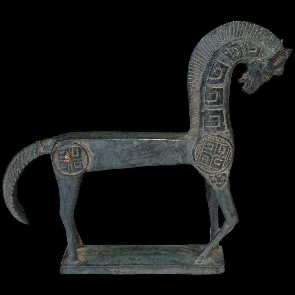 Bronze Greek Style Horse Figurine-Handicrafts-Peaceful People
