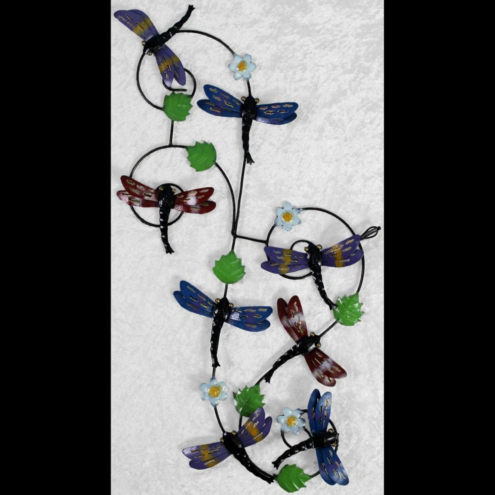 Dragonfly Metal Wall Decor-Handicrafts-Peaceful People
