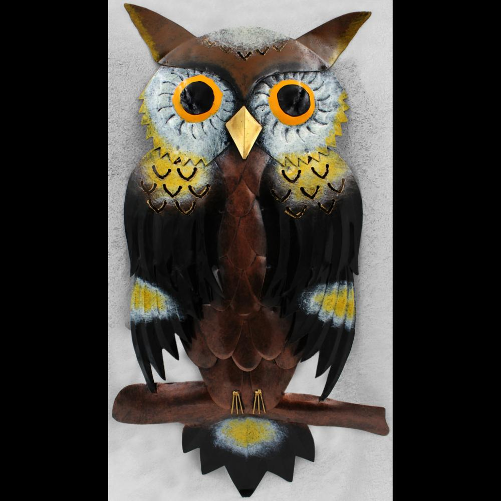 Owl Metal Wall Decor-Handicrafts-Peaceful People