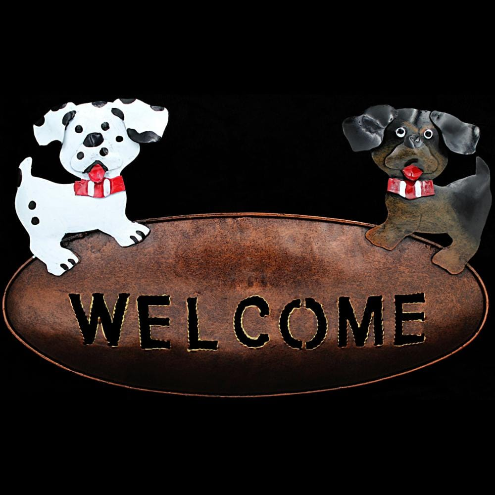 Fun Animals Metal Welcome Sign-Handicrafts-Peaceful People