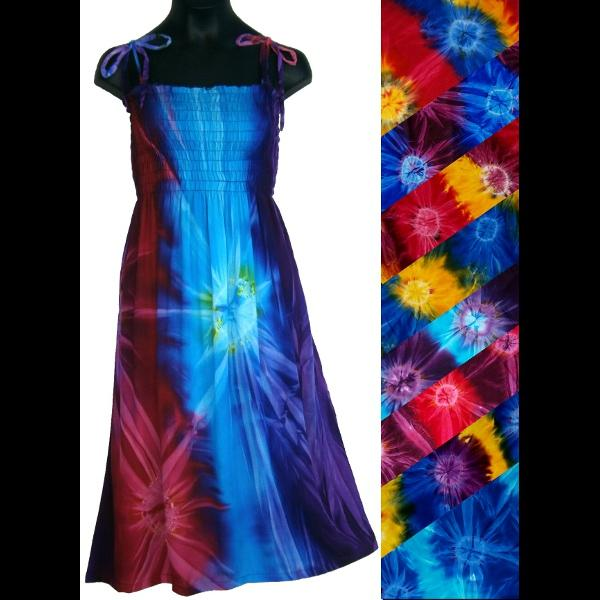 Girl's Tie-Dye Dress (Ages: 4, 6, 8, 10, 12)-Children's Clothes-Peaceful People