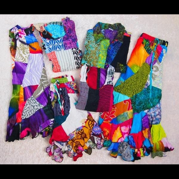 6 Piece Patchwork Clothing Grab Bag ($7.00 per piece)-Special Deals (reduced prices)-Peaceful People