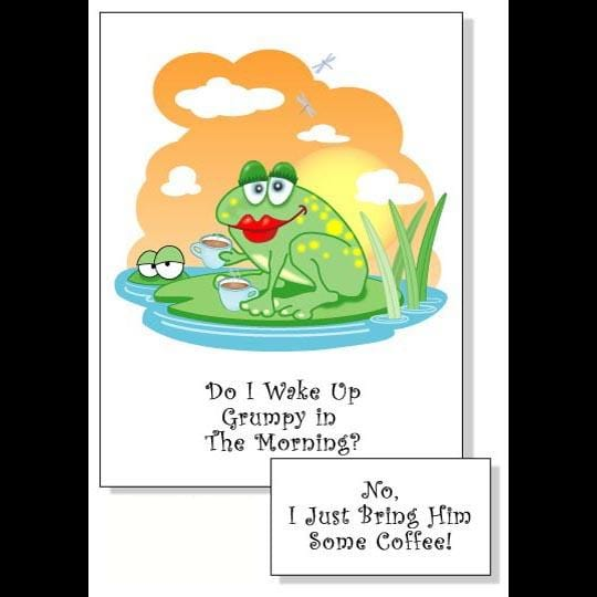 Humorous Coffee Greeting Cards (12 or 24 Pack)-Handicrafts-Peaceful People