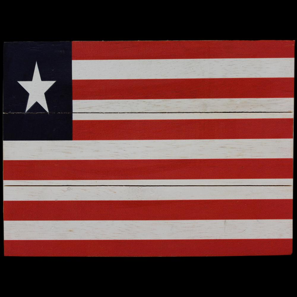 Liberia Flag Africa Wooden Sign-Handicrafts-Peaceful People